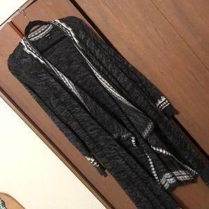 Long open sweater